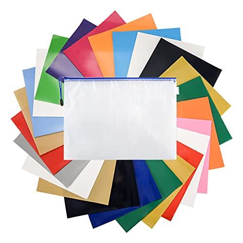 LAOYE Plotterfolie, textiel, 25 vellen, vinylfolie voor plotters, 16 kleuren, transferpapier om op te strijken, 30 cm x 25 cm, strijkfolie, flexfolie voor Cricut & Silhouette Cameo, textielfolie op doe-het-zelf-T-shirts, stoffen