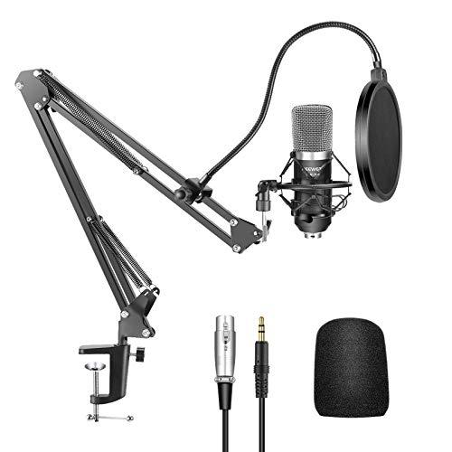 Neewer® nw-700 Professional Studio Recording condensator microfoon & NW-35 verstelbare opname microfoon vering schaar arm standaard met shock Mount en montagehulpkit