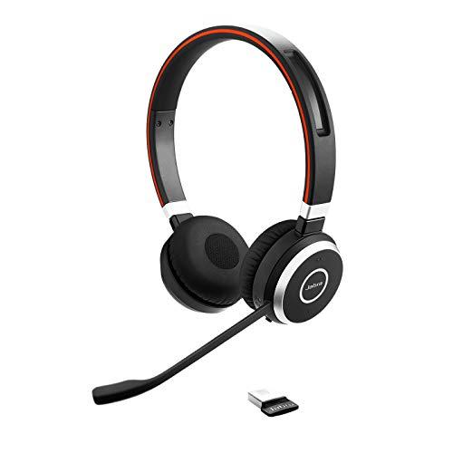 Jabra Evolve 65 MS stereo draadloze Bluetooth-headset voor pc/smartphone/tablet, telefoneren en muziek beluisteren