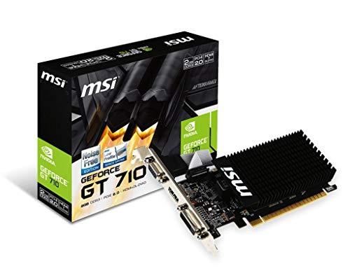 Msi NVIDIA GeForce GT 710 2GD3H Lp Nvidia Geforce Hdmi Dvi-D D-Sub Grafische Kaart, Pci Express 2.0 X16, 2048Mb Ddr3, 64 Bit, Zwart