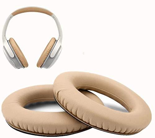 WADEO Vervangende oorkussens voor hoofdtelefoon Bose Quiet Comfort QC2/ QC15 / QC25 / Ae2 / Ae2w oorkussens oorkussens vervanging compatibel met Bose leer vervangende oorkussens kaki