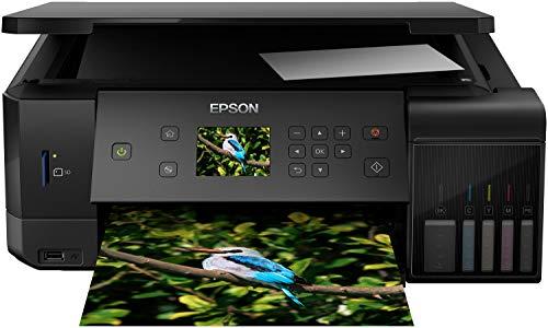 Epson Ecotank Fotoafdrukken Van Hoge Kwaliteit Inkjetprinter, Et-7700/C11Cg15401, Zwart