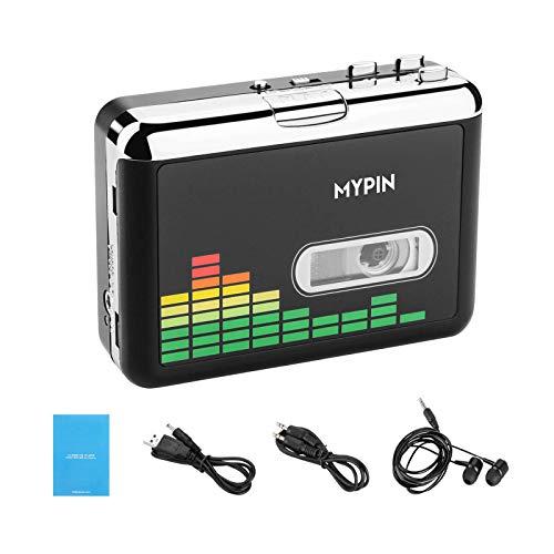 Cassettespeler Naar MP3-converter Retro Walkman Auto Reverse Portable Audio USB-tapespeler met koptelefoon, Geen Computer Nodig