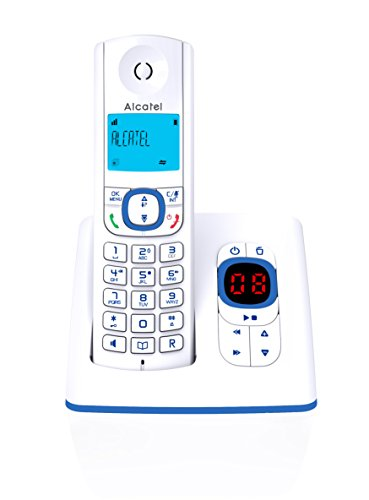 Alcatel F530 Voice draadloze DECT-telefoon in moderne kleuren, antwoordapparaat, handsfree, display met achtergrondverlichting, VIP-beltonen, 10 oproepmelodieën