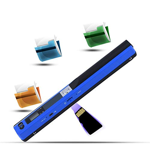 Draagbare scanner 900 * 900 DPI USB-penscanner A4-scan JPG/PDF USB 2.0 32G-handscanner Voor WINDOWS XP/VISTA / WINDOWS7 / MAC OS10.4 of hoger systeem (blauw)