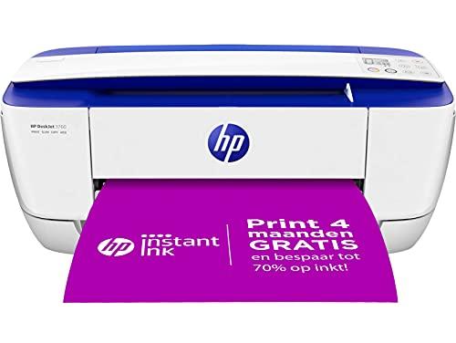 HP DeskJet 3760 All-in-One (C. Blue) XMO2, Draadloze Wifi kleuren inktjet printer voor thuis (Afdrukken, kopiëren, scannen) Inclusief 2 maanden Instant Ink