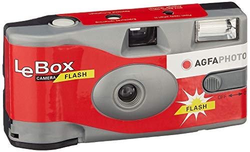 AgfaPhoto LeBox 400-27 Flash Wegwerpcamera, 12 x 3.5 x 6 cm,Multi