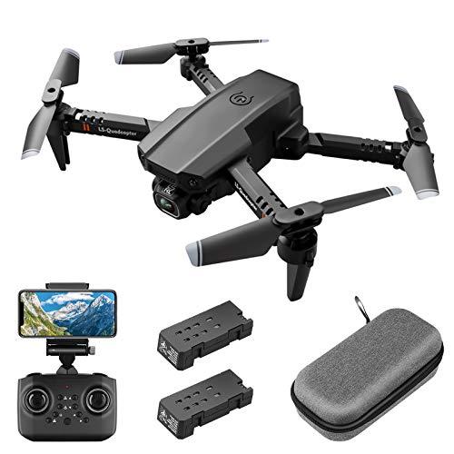 Mini-drone met 1080P FPV HD-camera voor volwassenen, RC opvouwbare quadcopter met gebarenbediening, hoogte vasthouden, headless-modus, 3D-flips, draagtas