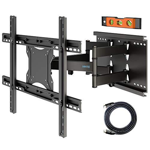 BONTEC TV muurbeugel kantelbaar voor 37-80 inch LCD/LED TV volledig beweging - Ultrasterke dubbele arm - Super sterke 65kg draagvermogen - Inclusief 1,8 m HDMI-kabel, waterpas