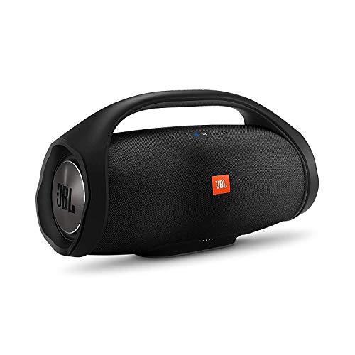 JBL Boombox draadloze Bluetooth-luidspreker met binnen- en buitenmodi, waterdicht, compatibel met Siri en Google, zwart