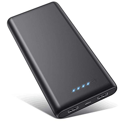 VOOE Power Bank 26800 mAh 【Hoge efficiëntie - Ultrahoge capaciteit】 Externe accu Power Pack oplader accupack 2.1A 2-poorts uitgang powerbank voor mobiele telefoon tablet - zwart