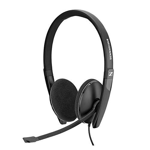 Sennheiser PC 8.2 CHAT, kabelgebundenes Headset für entspanntes Gaming, e-Learning und Musik, Noise-Cancelling-Mikrofon, Call Control, Mikrofon (klappbar), hoher Komfort – USB-A-Konnektivität