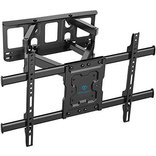 TV muurbeugel, draaibare kantelbare tv-beugel voor 37-75 inch platte & gebogen tv of monitor tot 60 kg, max. VESA 600 x 400 mm max vesa 600x400