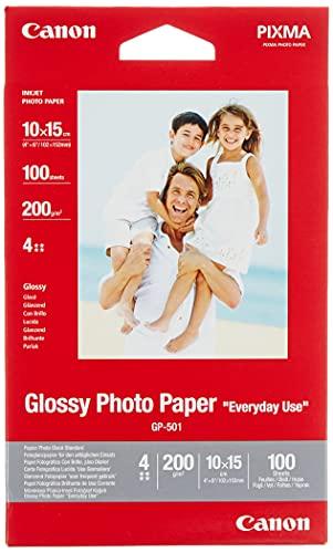 Originele Canon fotopapier GP-501 glanzend wit - 10x15cm 100 vellen voor inkjetprinter - PIXMA printer (200 g/m2)