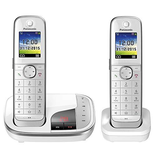 Panasonic KX-TGJ322GW, Huistelefoon Met Antwoordapparaat/Duo, Met Handset, Draadloze Telefoon, Geluidsarm, Wit