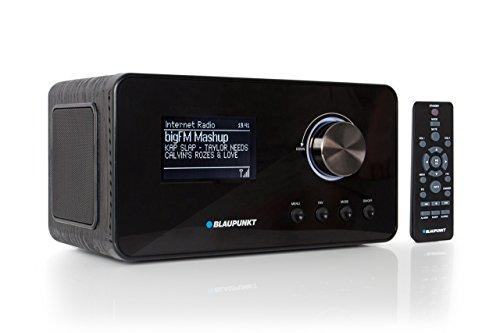 Blaupunkt IRD 30 internetradio, DAB+-radio, digitale radio met wekker, WLAN-keukenradio, digitale radio als badradio, DAB, FM-tuner, miniradio in retro design, kloradio, zwart