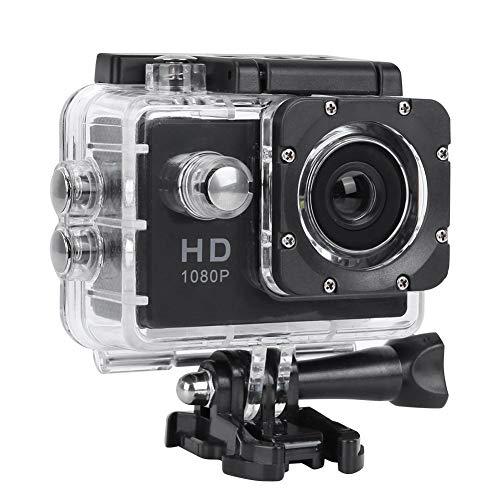 VBESTLIFE Sport Action Camera, waterdichte 1080p onderwatercamera met 140° groothoeklens, 900mAh batterij, onderwater 30m (zwart)