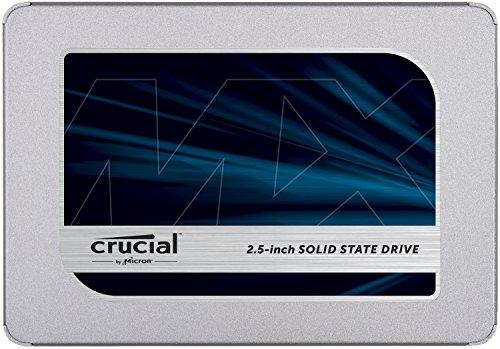 Crucial MX500 Interne SSD, Harde Schijf, 6,4 cm / 2,5 inch, 3D NAND, SATA, 1 TB, Zilver