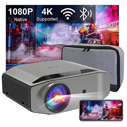Beamer Full HD WiFi Bluetooth, Artlii Energon2 Native 1080P Projector, 4K Ondersteund, 2.4G / 5.0G WiFi, Max 300