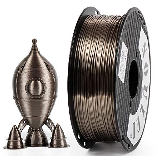 Noulei Silk PLA 3D Printing Filament 1.75mm, Glimmend 3D-printergloeidraad zijde Rose goud