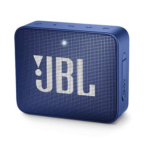 JBL GO 2, Waterdichte Draagbare Bluetooth-Luidspreker Met Handsfree Functie, Tot 5 Uur Muziekgenot, Blauw, 8,6 x 3,1 x 7,1 cm ; 186 g