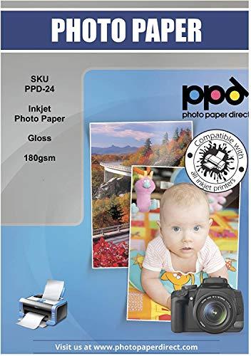 PPD A4 x 50 vel Inkjet PREMIUM Fotopapier 180 g/m2 Hoogglans, Direct Droog, Waterbestendig PPD024-50