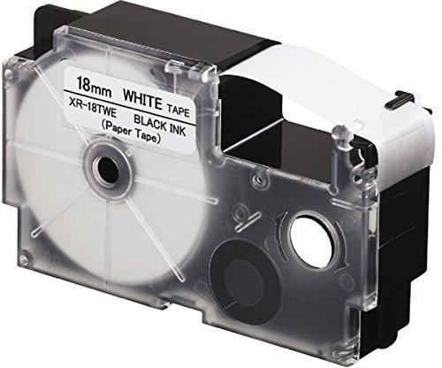 CASIO EZ-label Printer XR-18TWE tape van papier zelfklevend voor indoor gebruik 18 mm x 8,0 m zwart op wit