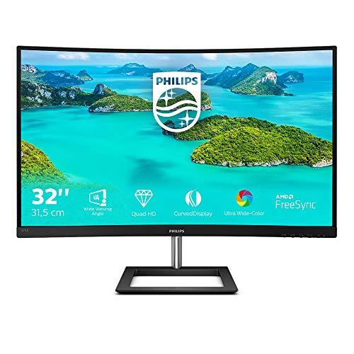Philips Curved Gaming Monitor, zwart WQHD 32 inch zwart