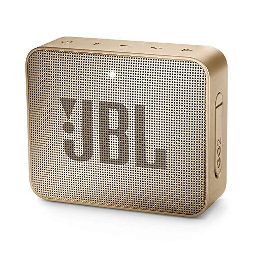 JBL GO 2 kleine muziekbox in champagne – waterbestendige, draagbare bluetooth-luidspreker met handsfree-functie – tot 5 uur muziekgenot met slechts één acculading