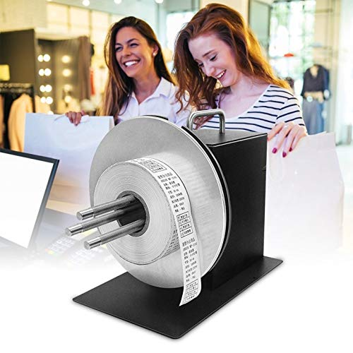 TOPQSC Label Rewinder 180MM Label Tags Rewinder 1-3 Inch Core Automatische Label Rewikkelmachine voor Barcode Printer voor Barcode Printer/Diverse Printer