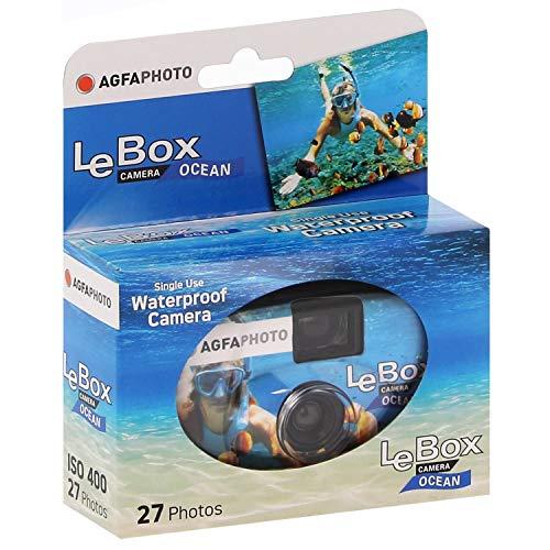 AgfaPhoto LeBox 400-27 Ocean wegwerpcamera onderwatercamera met 27 opnamen, 1 stuk